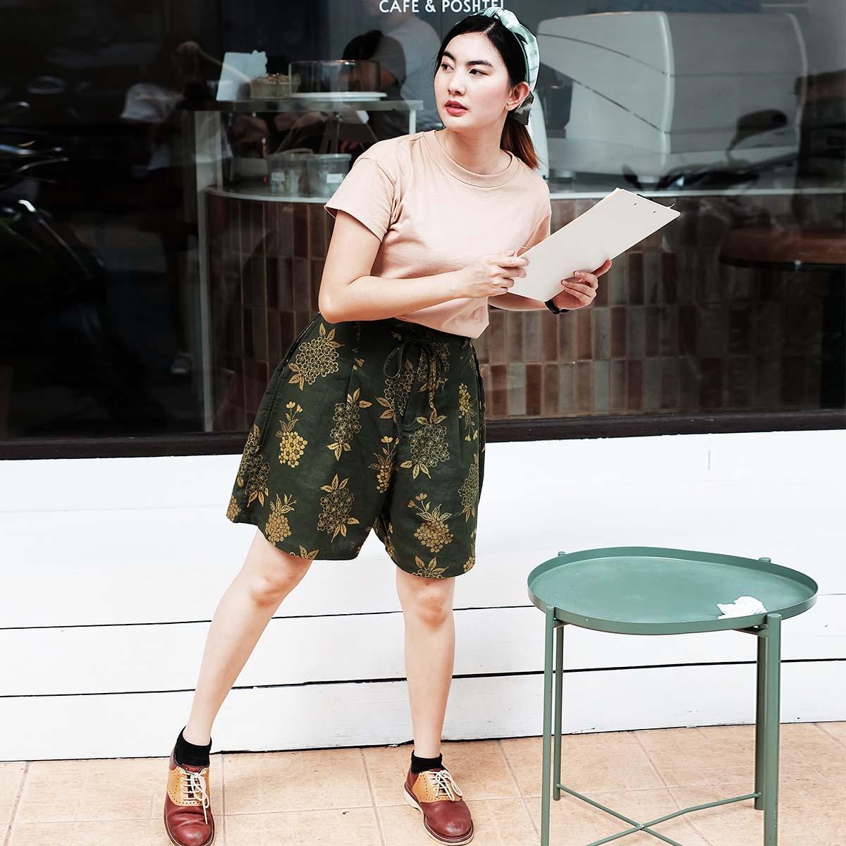 กางเกงผู้หญิง กางเกงผ้าฝ้ายขาสั้นผู้หญิง